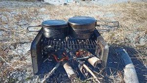 【釣り&キャンプ】海岸の流木を使ってミニキャンプをしてみた。
