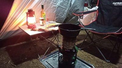 【仕事帰りキャンプ】キャンプでアヒージョは最高だった【21張目】