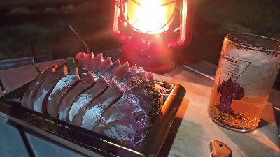 【仕事帰りキャンプ】炭火でじっくりと焼き上げたサンマは最高だった【24張目】
