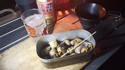 【仕事帰りキャンプ】キャンプ場でのバイ貝の酒蒸しがうますぎた【第34張目】