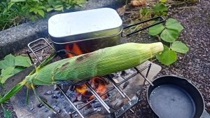 【ゆるきゃんぷ】トウモロコシを丸ごと焼いたら超美味かった【24泊目】