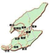 佐渡市の地図画像
